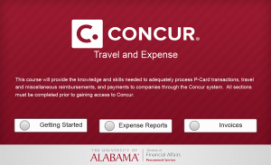 Launch Concur Travel and Expense Course