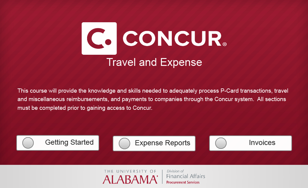 Concur Training site